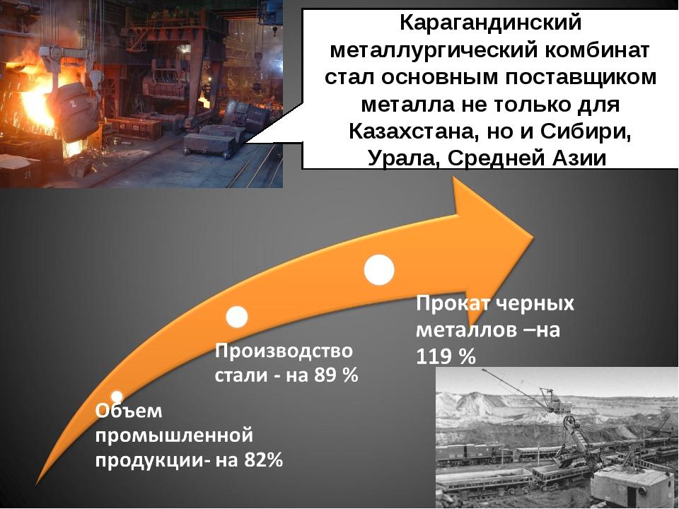Карагандинский металлургический комбинат стал основным поставщиком металла не...