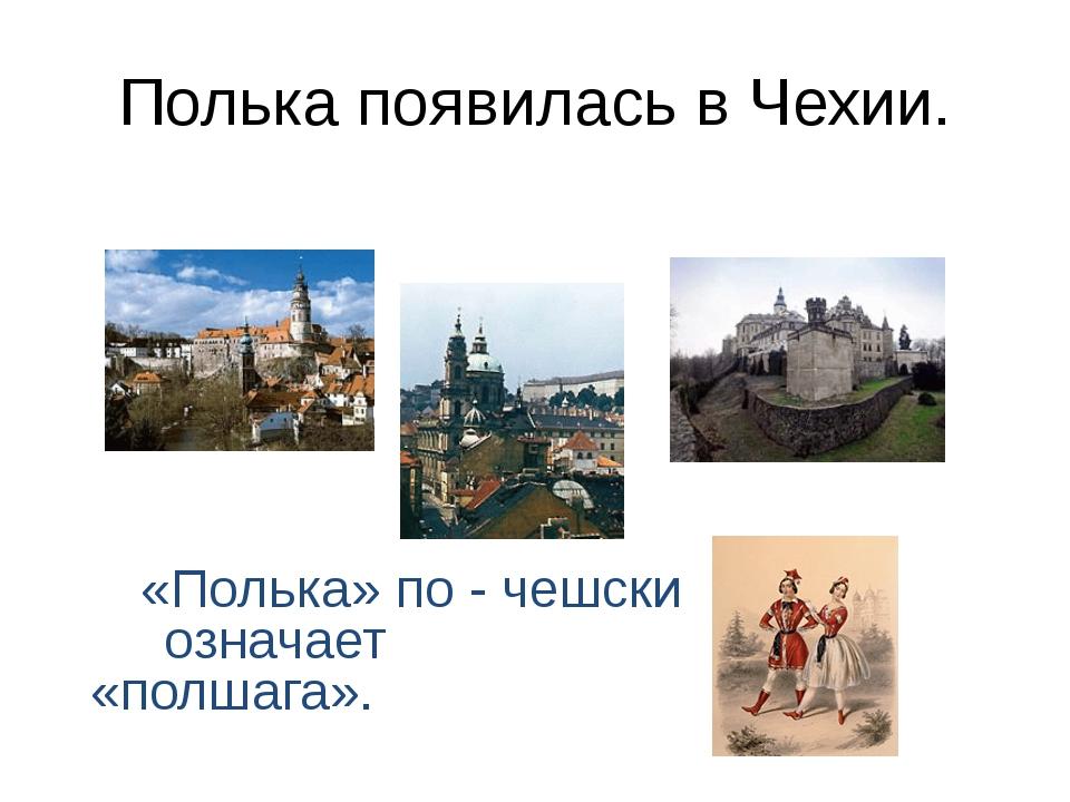 Полька появилась в Чехии. «Полька» по - чешски означает «полшага».