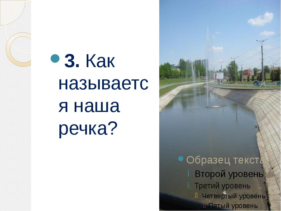 3. Как называется наша речка?