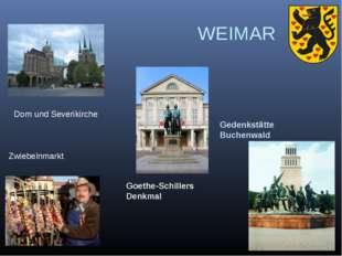 WEIMAR Gedenkstätte Buchenwald Goethe-Schillers Denkmal Dom und Severikirche