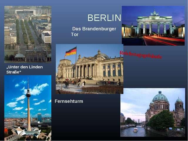 "Museumsinsel BERLIN Fernsehturm ""Unter den Linden Straße"" Reichstagsgebäude..."
