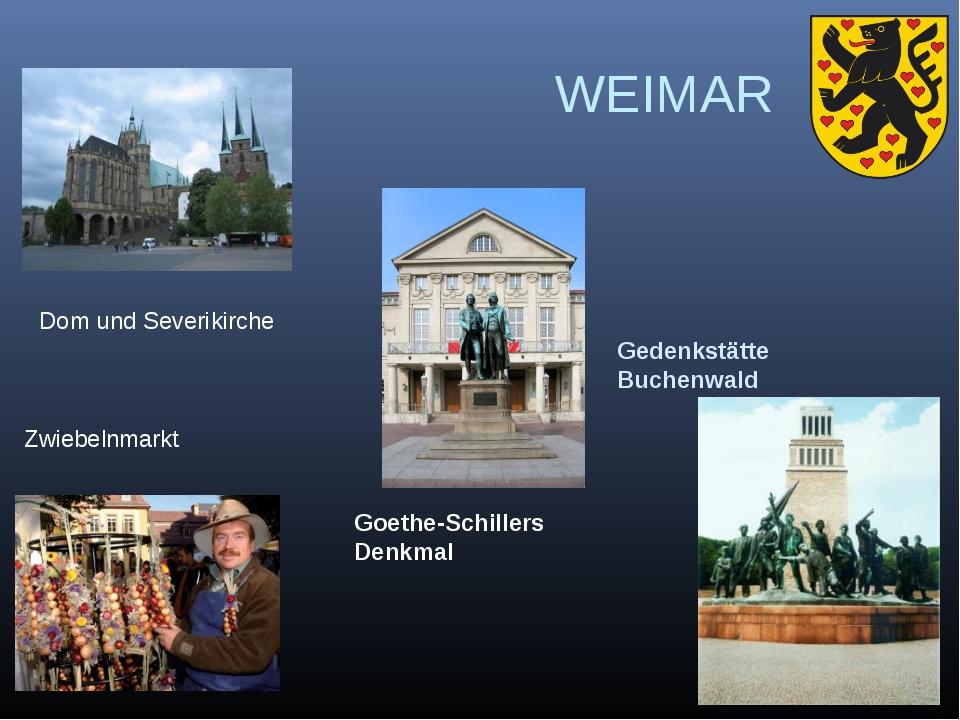 WEIMAR Gedenkstätte Buchenwald Goethe-Schillers Denkmal Dom und Severikirche...