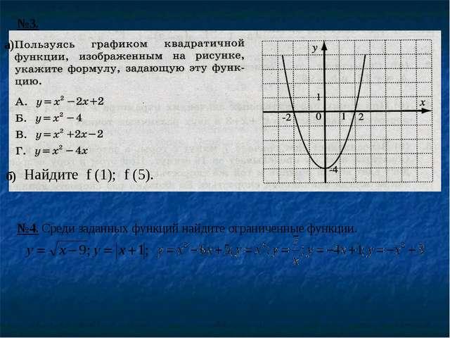 Найдите f (1); f (5).