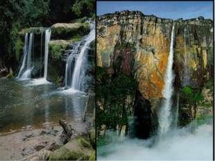 Пороги и водопады, бывают как на равнинных, так и на горных.