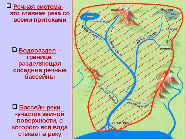 Речная система – это главная
