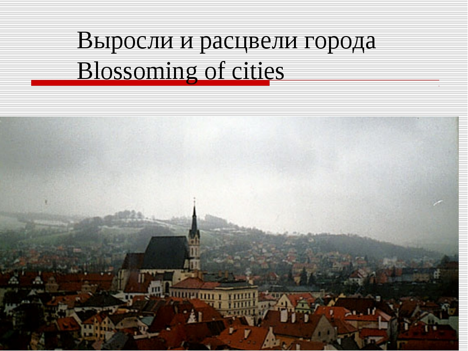 Выросли и расцвели города Blossoming of cities
