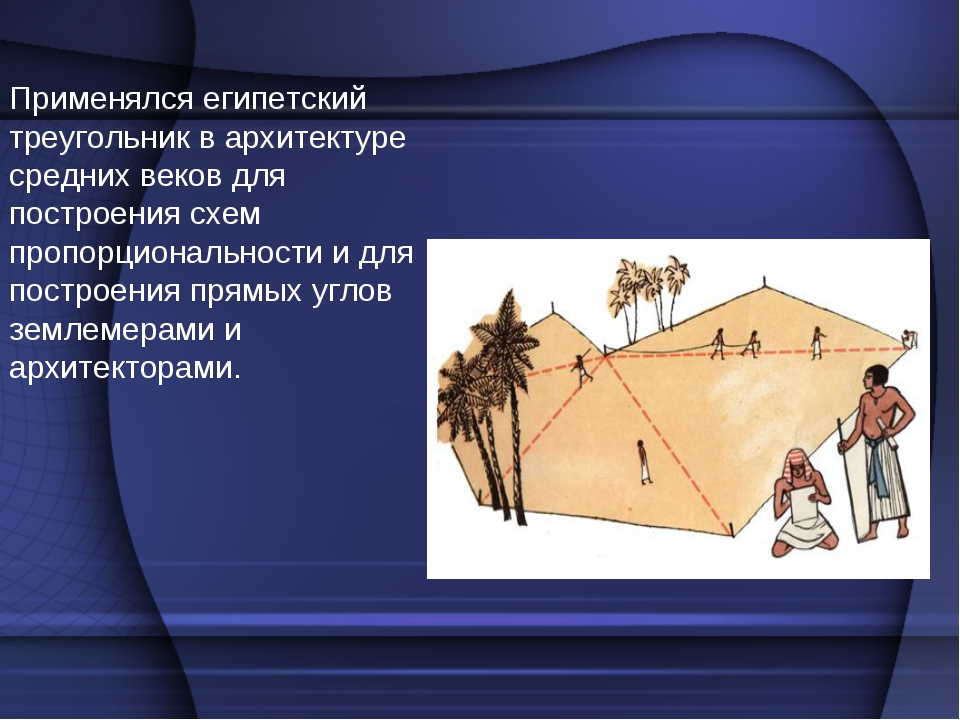 Применялся египетский треугольник в архитектуре средних веков для построения...