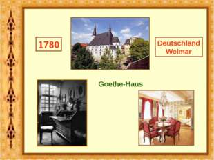 Deutschland Weimar 1780 Goethe-Haus