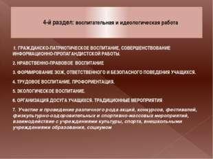 4-й раздел: воспитательная и идеологическая работа 1. ГРАЖДАНСКО-ПАТРИОТИЧЕС