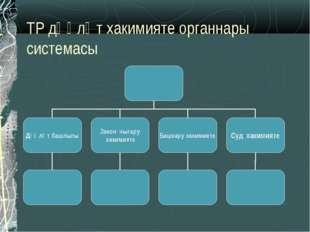 ТР дәүләт хакимияте органнары системасы