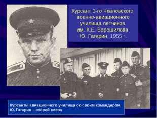 Курсант 1-го Чкаловского военно-авиационного училища летчиков им. К.Е. Вороши