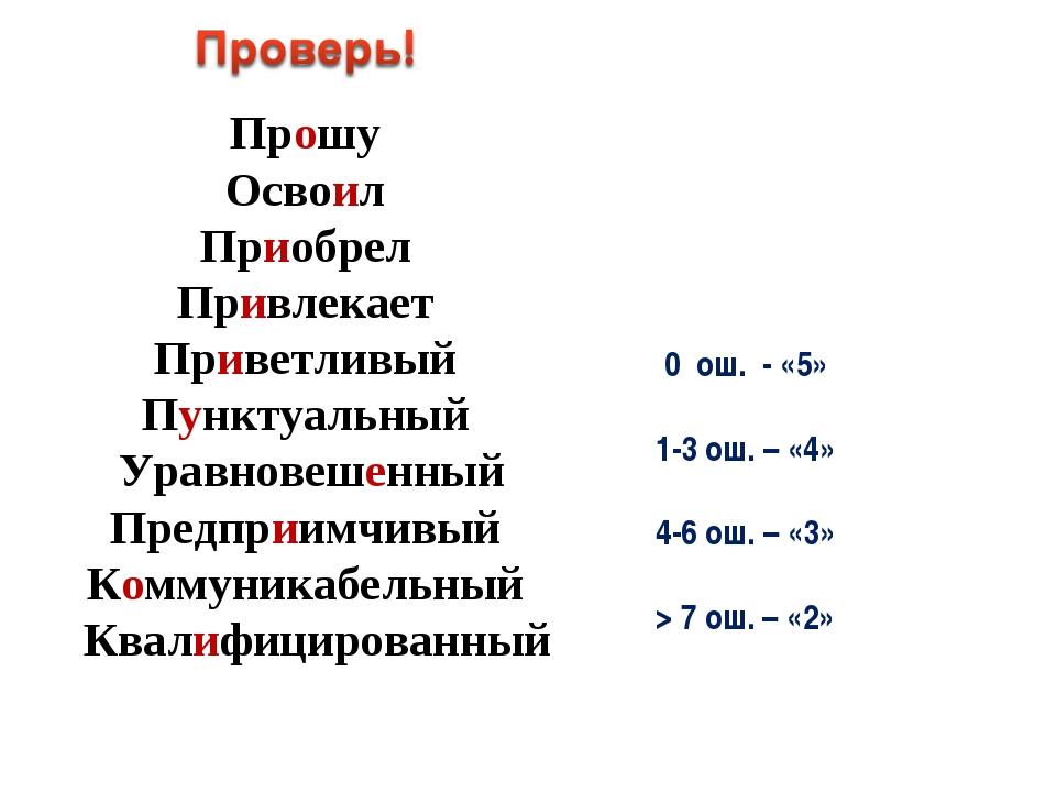 Прошу Освоил Приобрел Привлекает Приветливый Пунктуальный Уравновешенный Пред...
