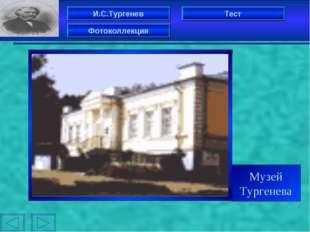 И.С.Тургенев Фотоколлекция Тест Музей Тургенева