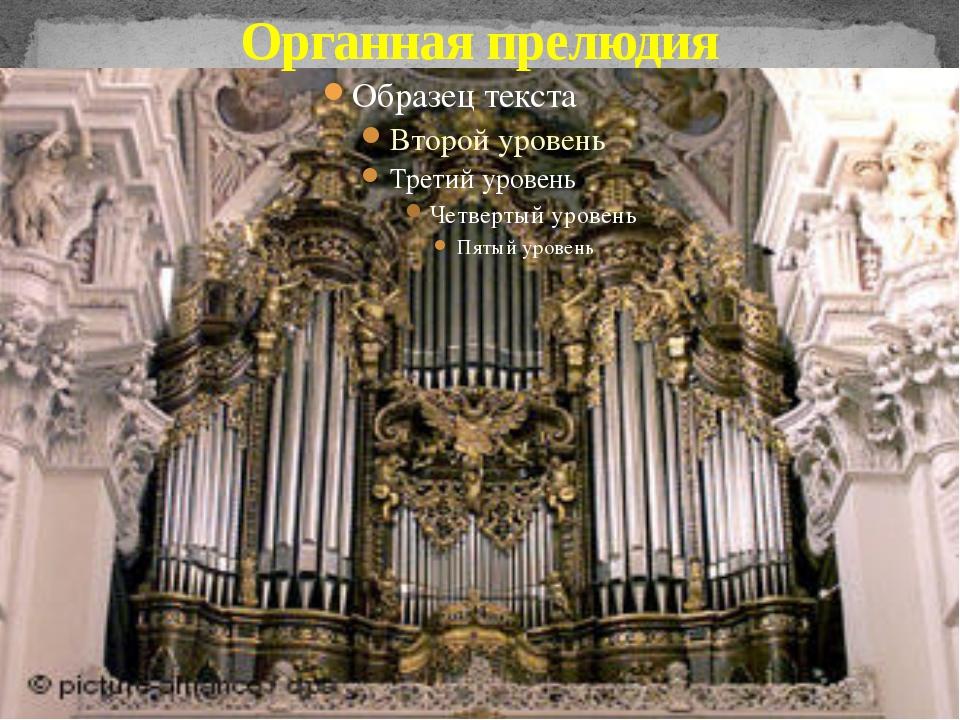 Органная прелюдия