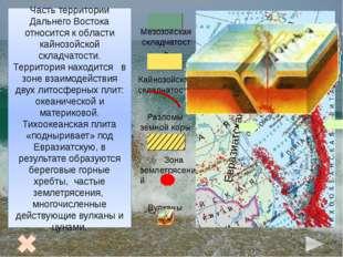 Рельеф Дальнего Востока 1 2 3 4 6 7 8 5 Чукотское нагорье 2. Корякское нагор
