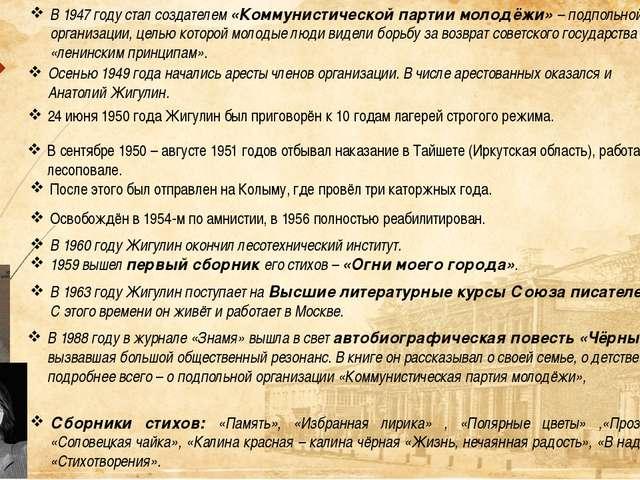 В 1947 году стал создателем «Коммунистической партии молодёжи» – подпольной о...