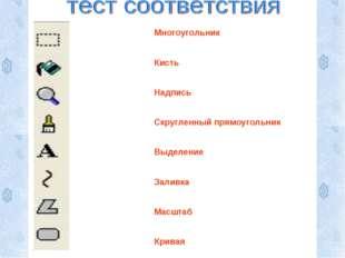 Многоугольник Кисть Надпись Скругленный прямоугольник Выделение Заливка Масшт