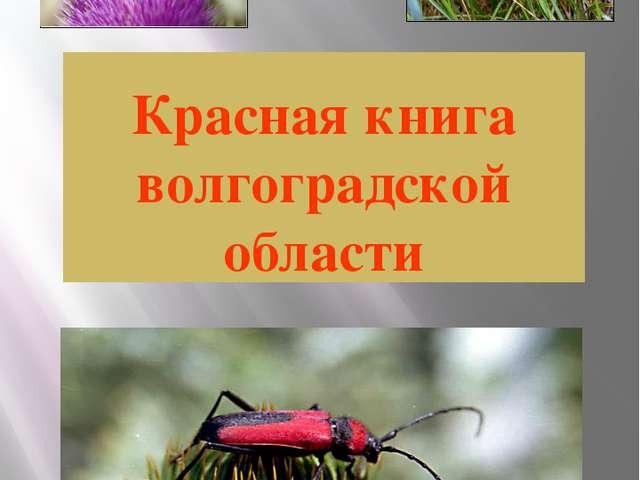 Красная книга волгоградской области
