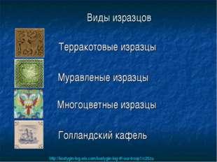 Виды изразцов Терракотовые изразцы Муравленые изразцы Многоцветные изразцы Го