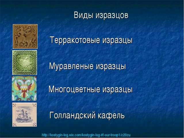 Виды изразцов Терракотовые изразцы Муравленые изразцы Многоцветные изразцы Го...