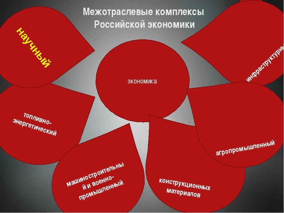 инфраструктурный Межотраслевые комплексы Российской экономики топливно-энерге...