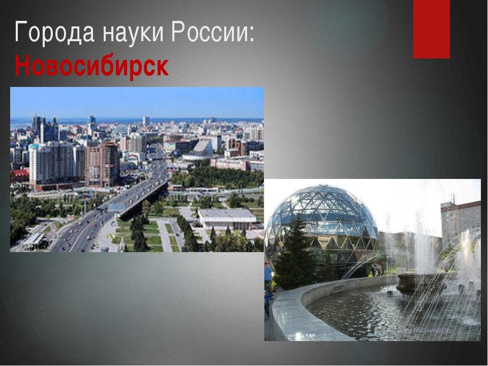 Города науки России: Новосибирск