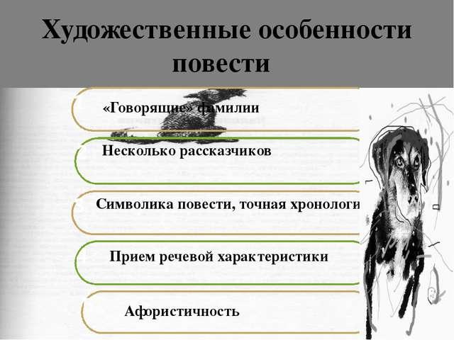 Художественные особенности повести «Говорящие» фамилии Несколько рассказчиков...