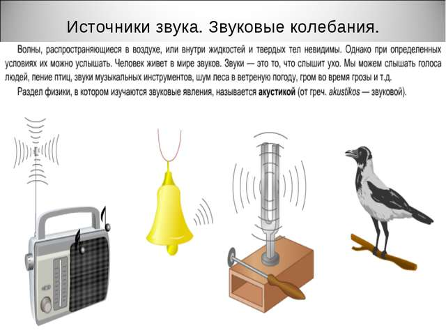 Источники звука. Звуковые колебания.