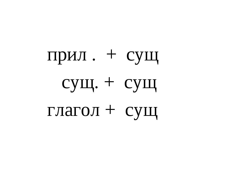 прил . + сущ сущ. + сущ глагол + сущ