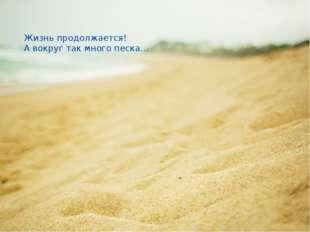 Жизнь продолжается! А вокруг так много песка…