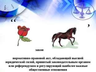 закон нормативно-правовой акт, обладающий высшей юридической силой, принятый
