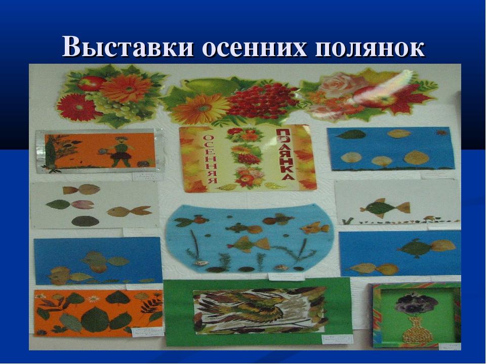 Выставки осенних полянок