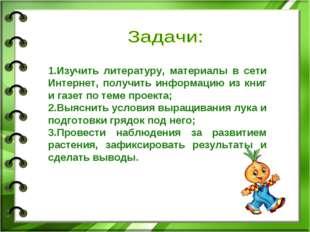 1.Изучить литературу, материалы в сети Интернет, получить информацию из книг