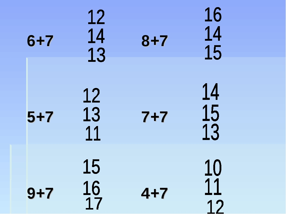 6+78+7  5+77+7  9+7...