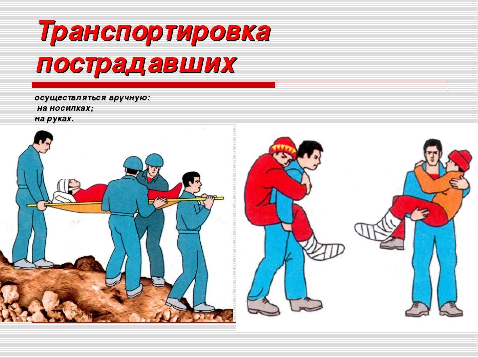Виды транспортировки пострадавших - Каталог цифровых фотографий