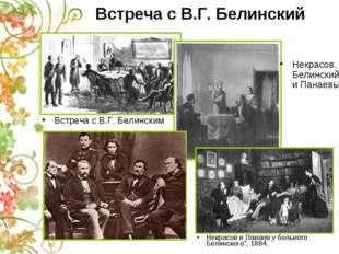 Встреча с В.Г. Белинский Встреча с В.Г. Белинским Некрасов и Панаев у больног