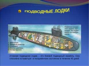 Атомная подводная лодка – это боевой подводный корабль. Она способна оставать