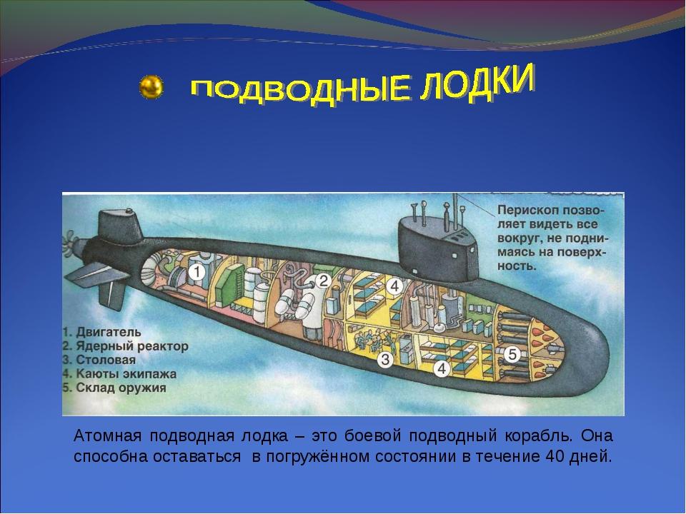 Атомная подводная лодка – это боевой подводный корабль. Она способна оставать...