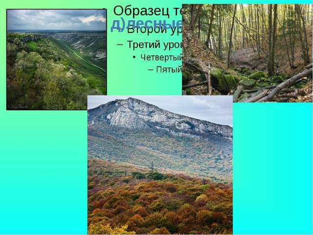 д)лесные