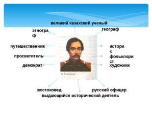выдающийся исторический деятель русский офицер востоковед художник фольклор