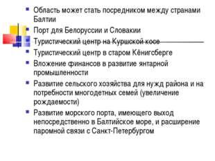 Область может стать посредником между странами Балтии Порт для Белоруссии и С