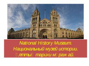 National History Museum. Национальный музей истории. Ұлттық тарихи мұражай.