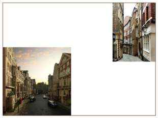 The City is the oldest part of London with narrow streets and pavements. Ther