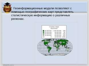 Задание: С помощью геоинформационной модели «Численность населения в странах
