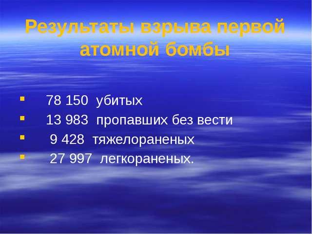 78 150 убитых 13 983 пропавших без вести 9 428 тяжелораненых 27 997 легкоран...