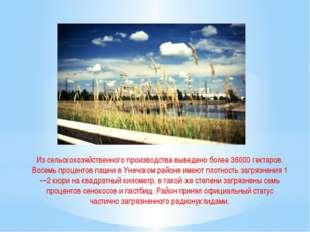 Из сельскохозяйственного производства выведено более 36000 гектаров. Восемь п