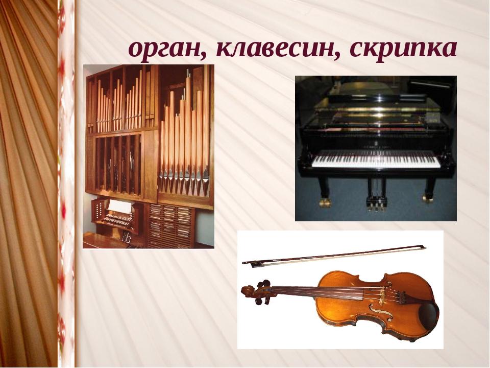 орган, клавесин, скрипка