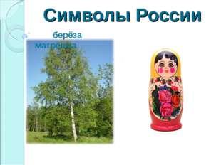 Символы России берёза матрёшка