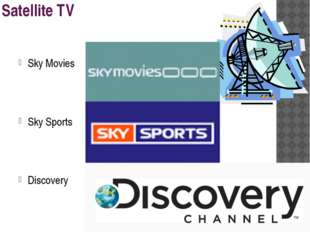 Satellite TV Sky Movies Sky Sports Discovery