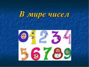 В мире чисел